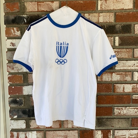 ASICS Italia Team Olympics Shirt Size Medium ⚽️🥅